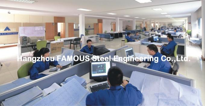 Portal Steel Frame Structural Engineering Designs , Normal / Special Structure Type 0