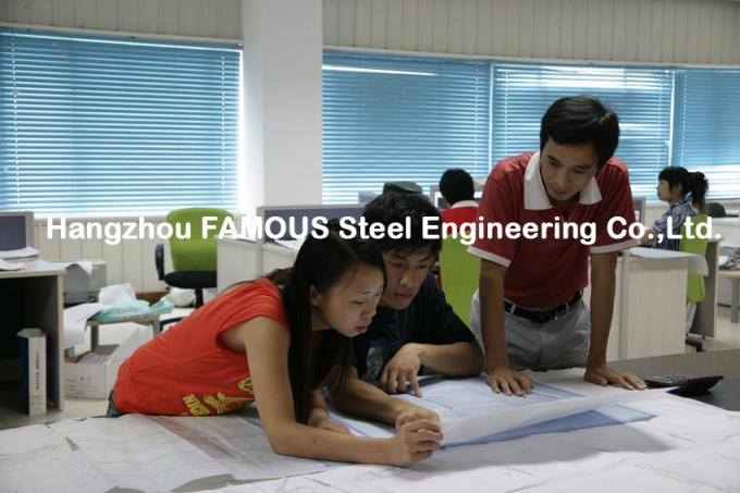 Portal Steel Frame Structural Engineering Designs , Normal / Special Structure Type 1
