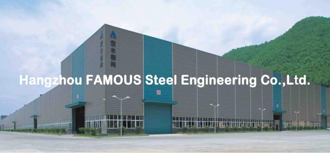 Portal Steel Frame Structural Engineering Designs , Normal / Special Structure Type 2