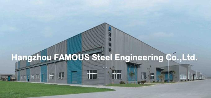 Portal Steel Frame Structural Engineering Designs , Normal / Special Structure Type 3