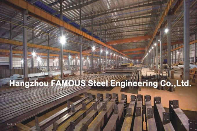 Portal Steel Frame Structural Engineering Designs , Normal / Special Structure Type 5
