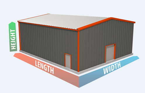 Lightweight Prefabricated Structural Steel Buildings 95' X 120' ASTM A36 For Commercial