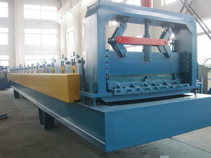 15KW Hat Channel Cold Rolling Machine With Cr 12 Blade Hydraulic Cutting