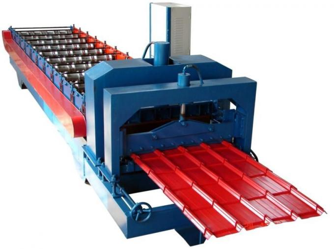 Steel Roof Glazed Tile Roofing Sheet Forming Machine With 18 Forming Stations