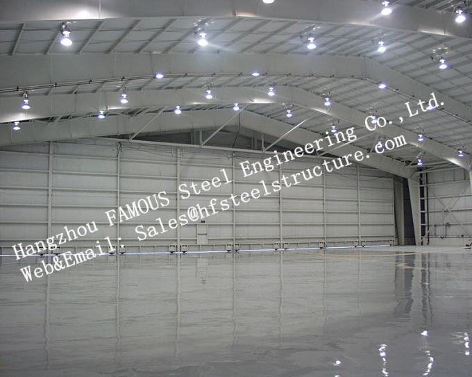 Hot Galvanized Steel Shed Aircraft Hangar Buildings For Airplanes / Air Terminals