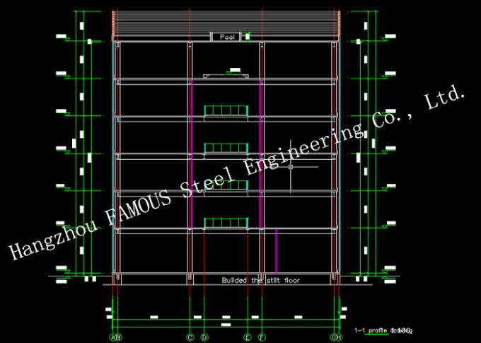 Prefabricated Floor Building Structural Engineering Designs For Staff Accommodation And Office