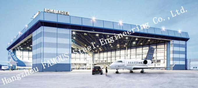 Airport Development Aircraft Hangar Buildings , Steel Airplane Hangars Constructions