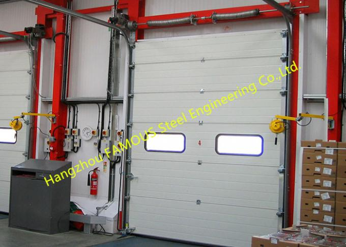Motorized Industrial Garage Doors With Remote Control Quick Response Doors Fire Emergency Use 0