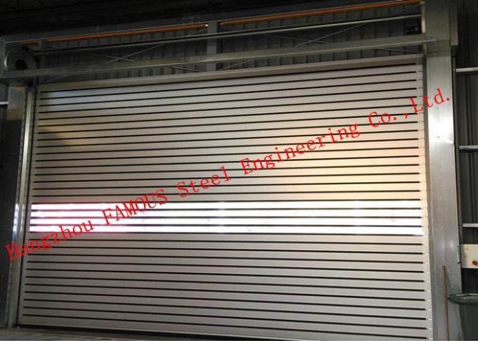Automatic Galvanized Industrial Garage Doors Heavy Duty Steel Roller Shutter Door For Underground