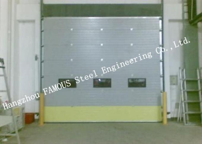 Finished Surface PVC Automatic Industrial Garage Doors Roller Shutter With Visual Window