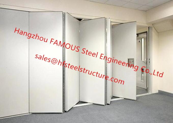 PVC Panel Folding Doors Soundproof Sliding Accordion Partition Doors For Conference Room