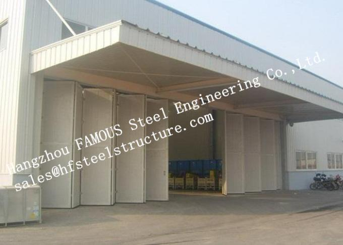 Aesthetic Aluminum Alloy Industrial Garage Doors Folding For Warehouse , Simple Installation