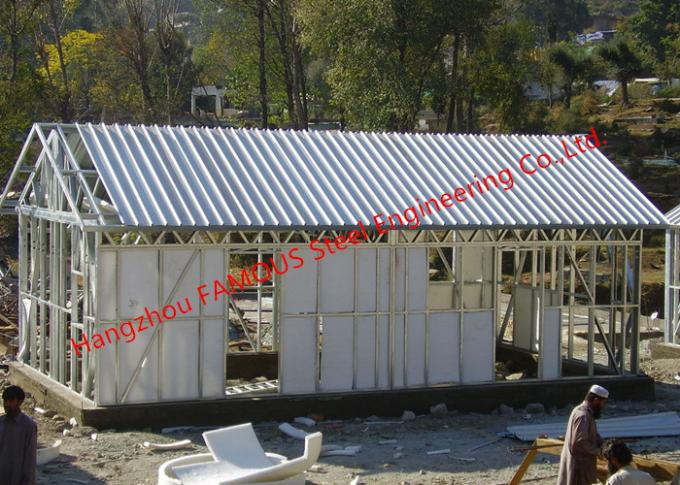 Galvanized H - Beam Steel Structure Framing Systems For Workshop Or Villa House