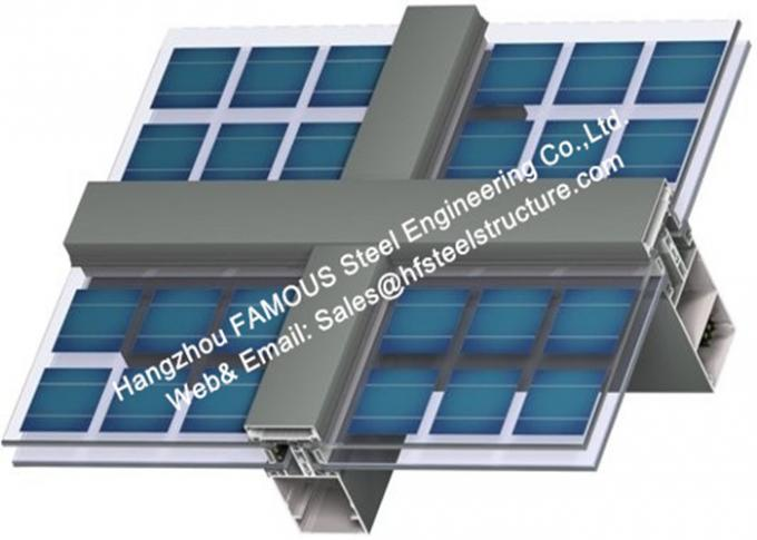 Photovoltaics Integrated Facades Solar Modules Glass Curtain Wall With Single Glass Component