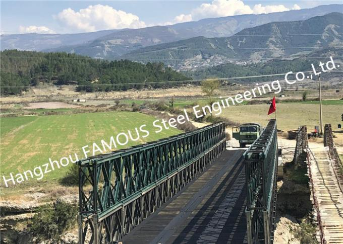 Modern Designed Military Style Temporary Military Steel Structure Bailey Bridge For Army Usage