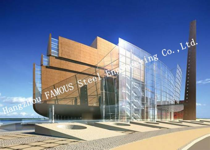 Aluminum Frame Insulation Double Glass Curtain Wall For Commercial Office Building 0