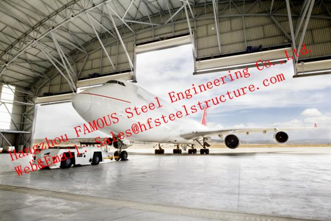 Waterproof Insulated Prefabricated Steel Structure Aircraft Hangar For Private Usage 0