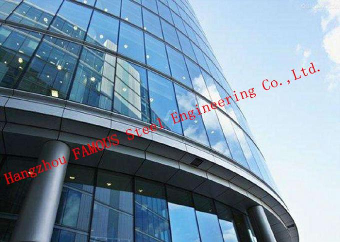 Aluminium Frame 4+12a+4 Tempered Glass Wall System Panel Unitized Curtain Wall