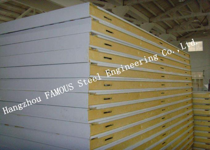 Customized Heat Insulation Cost Saving Insulated PU Sandwich Panels For Wall Systems