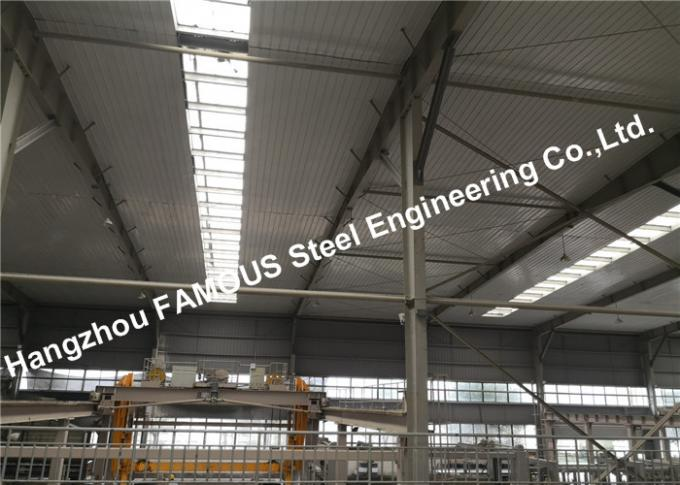 Economic Heavy Steel Structure Workshop And Warehouse With Overhead Bridge Cranes 0