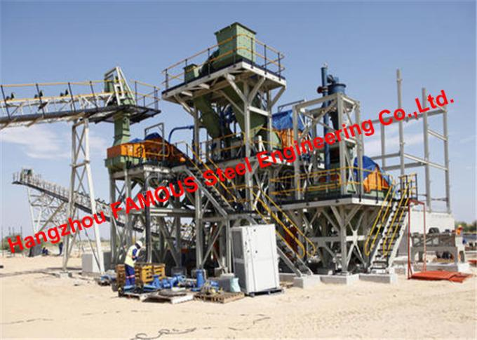 Prefabricated Structural Steelworks For Crushed Broken Stone Mining And Quarrying Construction Site 0