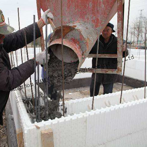 Green House Self Aligning Typical Assembly Insulated Concrete Forms ICFs Wall BuildBlocks 0