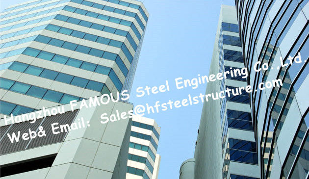 Office Building Multi-storey Steel Building With Glass Curtain Wall Cladding System