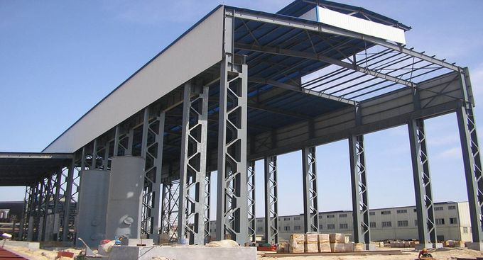 Galvanized Structural Steel Fabrications Factory Shed Buildings For Industry Building