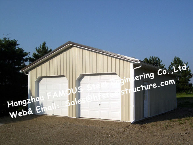 Bespoke Pre Engineered Steel Buildings Customized Size For Car Garage
