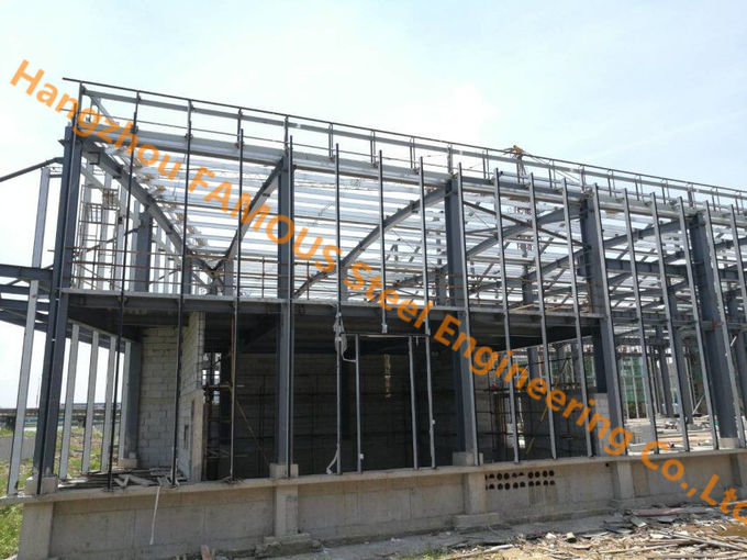 Low Rise Prefabricated Industrial Steel Buildings Warehouse / Workshop Design