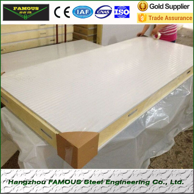 Industrial Polyurethane Freezer Sandwich Cold Room Panel For Refrigeration Unit 960mm Width