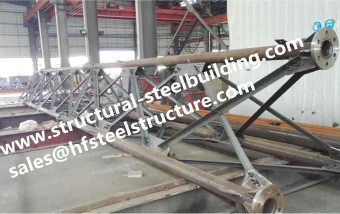 Hot Galvanized Steel Tubular Lattice Tower For Electrical Power Telecommunication Antenna Distribution