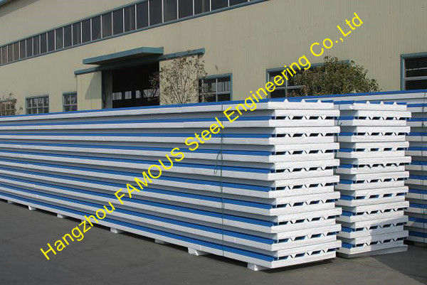 Fireproof EPS Sandwich Panel For Steel Building Wall , Roof Cladding