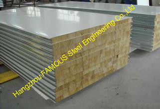 Corrugated Metal Roofing Sheets , Fire Rated Insulated Roofing Sheets