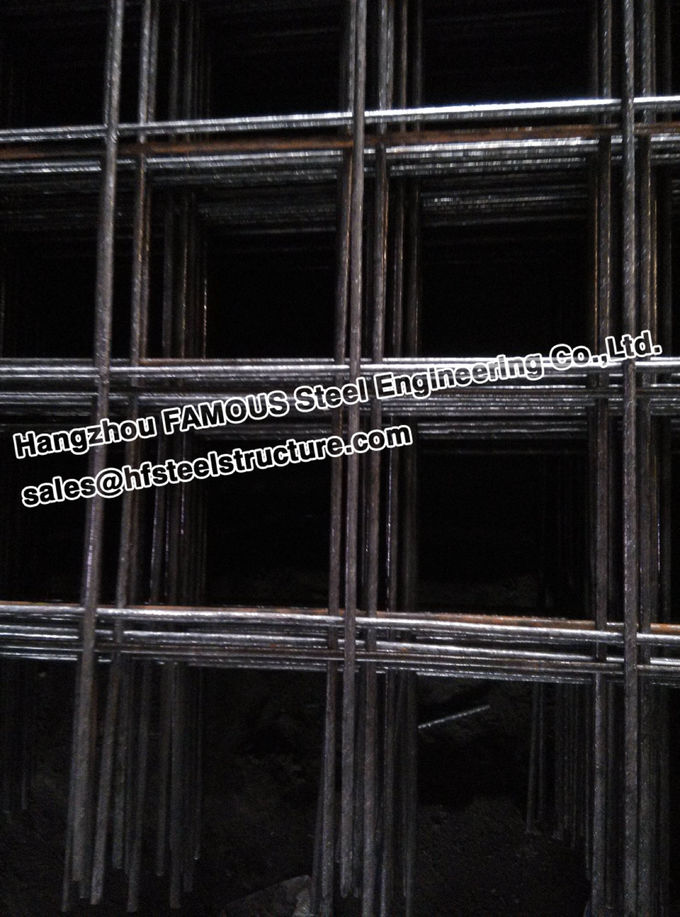 Welded Ribbed Wires Concrete Reinforcing Mesh For Residential