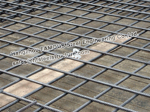 Square Ribbed Steel Reinforcing Mesh Contruct Reinforced Concrete Slabs